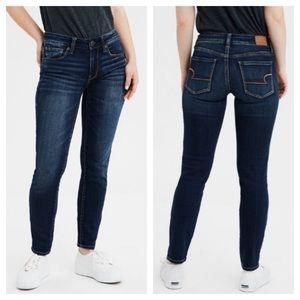 AE Dark Wash Next Level Stretch Skinny Jeans